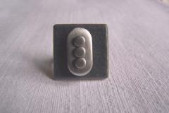 Bague «Tendance grise» céramique gris/alu