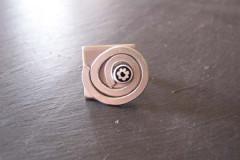Bague «Tout métal» spirale alu