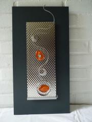 VENDU-  Cadre déco 50x26 ondulation orange