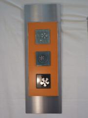VENDU - Cadre inox 75x25 seventies orange