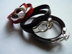 bracelet cuir double tours