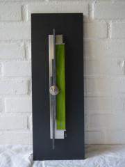 VENDU- Cadre déco 50x20 vertical anis