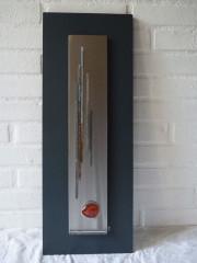 VENDU-Cadre déco 65x25 vertical galet brique