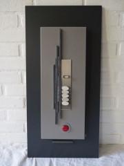 VENDU - Cadre déco 60x35 zen  verre rouge