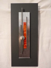 VENDU - Cadre déco 50x25 vertical orange
