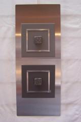 Cadre inox 20x50cm gris